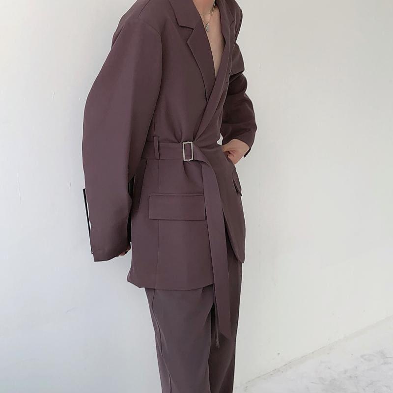 ニュアンスカラーテーラードジャケット+パンツ